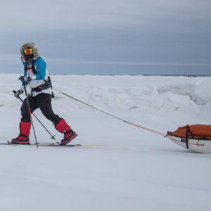 Larsen Aborts South Pole Speed Attempt