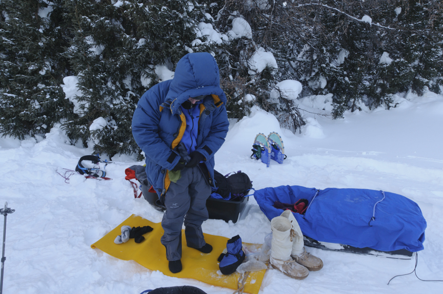 14e34191725bf A beefy parka lets sledders do camp chores comfortably at -40. Photo  Jerry  Kobalenko