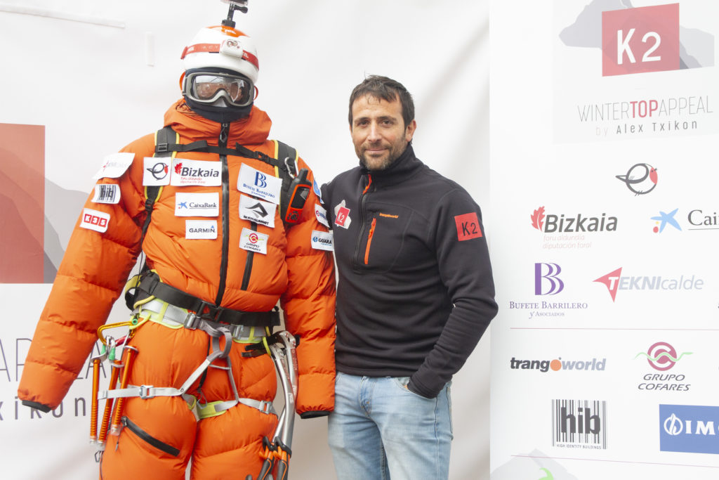 Alex Txikon prior to departure for winter K2