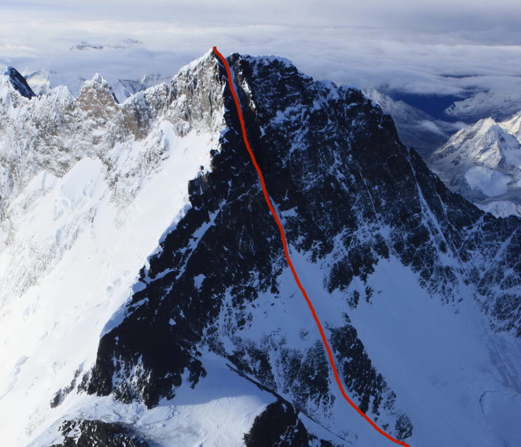 Dream Line couloir on Lhotse