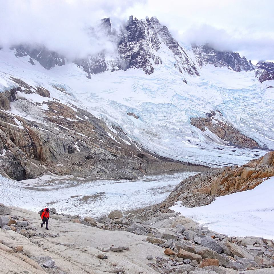 Herve Barmasse on the way to Cerro Piergiorgio, Patagonia