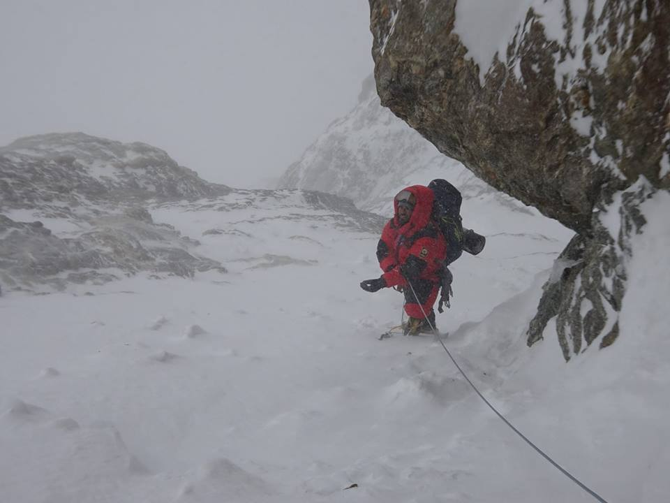 Daniele Nardi facing tough conditions on winter Nanga Parbat