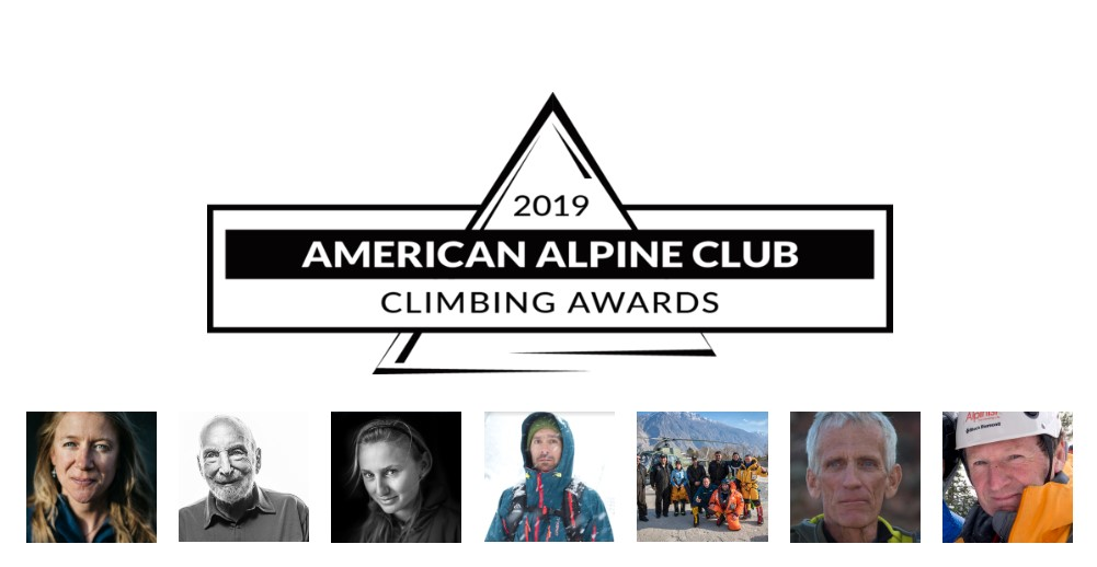 Climbers and teams awarded by the AAC in 2019