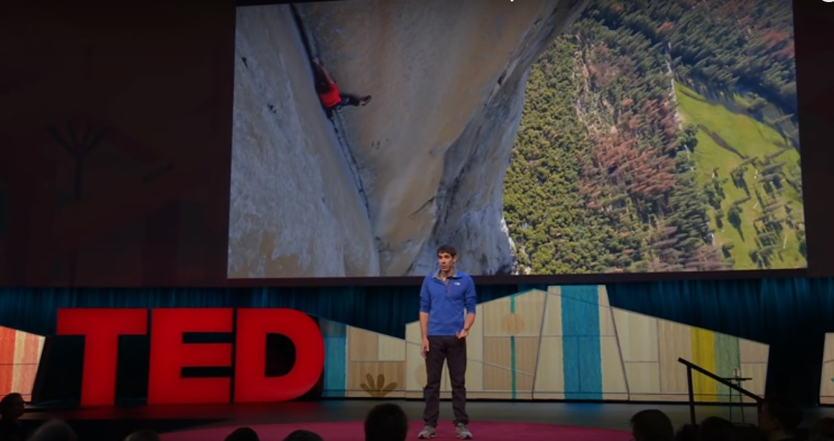 Alex Honnold talks about his free solo climb on El Capitan in Yosemite NP. http://www.ted.com