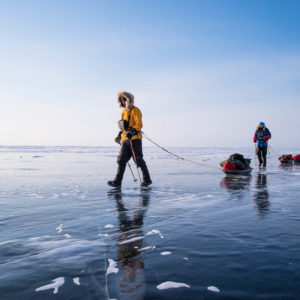 Sledding Season Begins on Lake Baikal