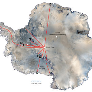 The 10 Most Popular Routes to the South Pole