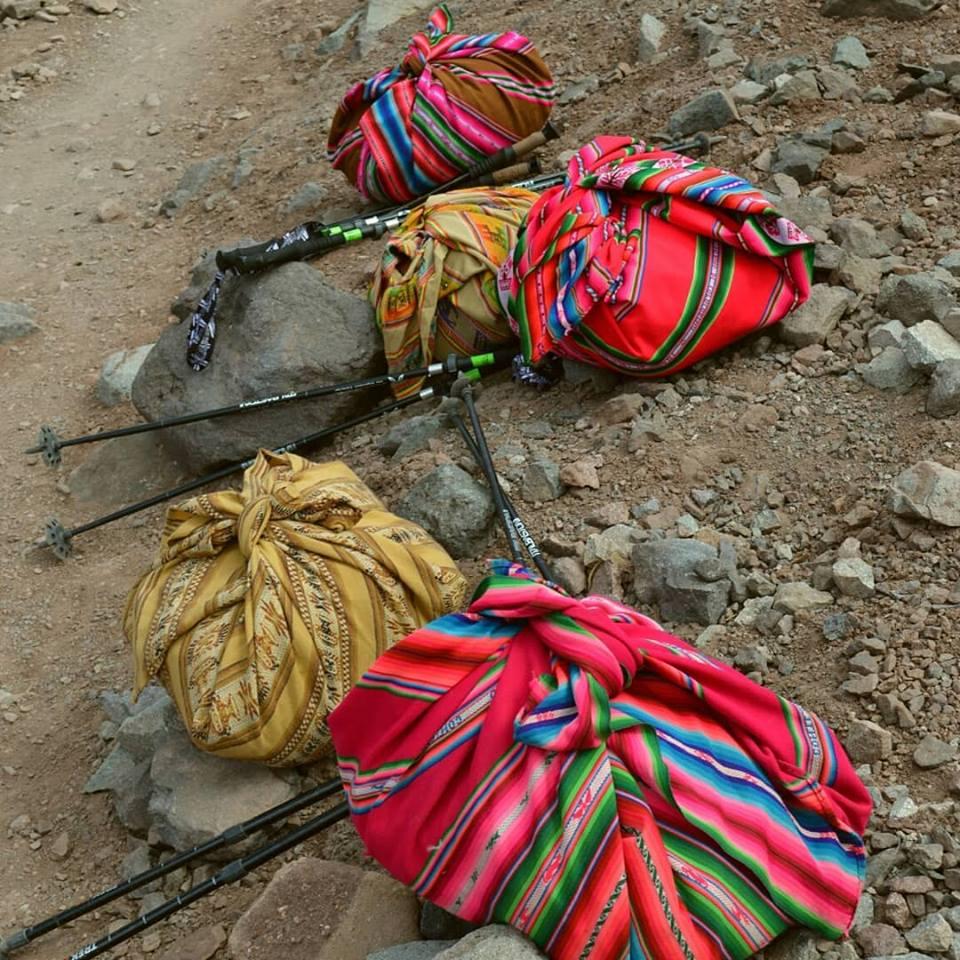 Cholitas' backpacs.