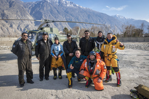 Winter Nanga Parbat rescue team in 2018