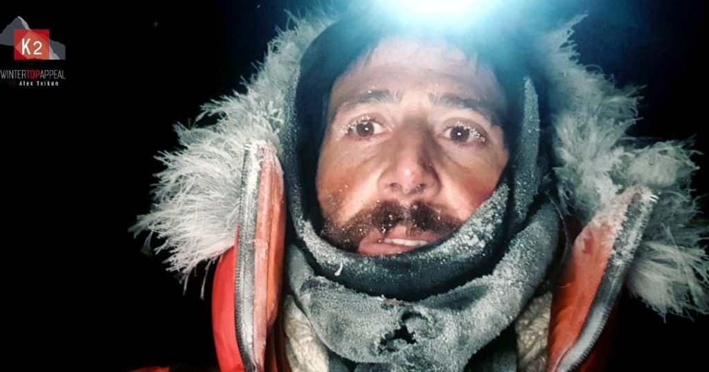 Alex Txikon in Camp 2 on winter K2