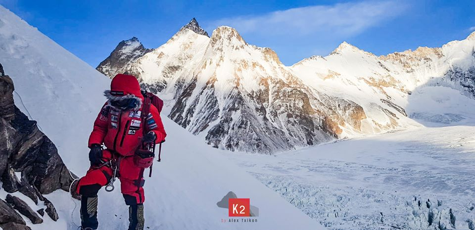 Alex Txikon on winter K2