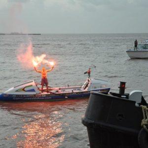 Atlantic Rower Richard Allen arrives in Guyana