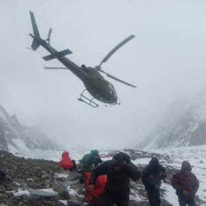 Nardi and Ballard Search: Alex Txikon & Co. En Route from K2