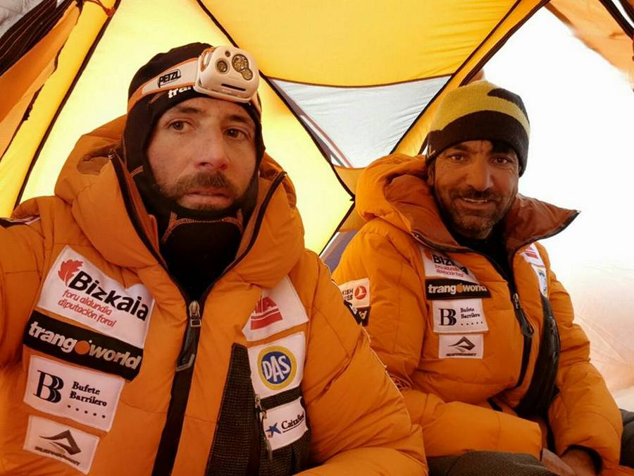 Alex Txikon and Ali Sadpara in winter Everest base Camp, 2018