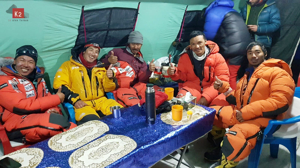 Nepalese Sherpa climbers in Alex Txikon's team for winter K2
