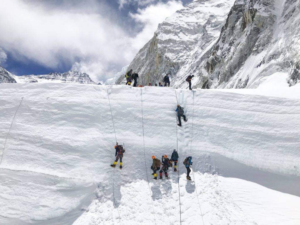 Everest South side, Khumbu Icefall, 2019