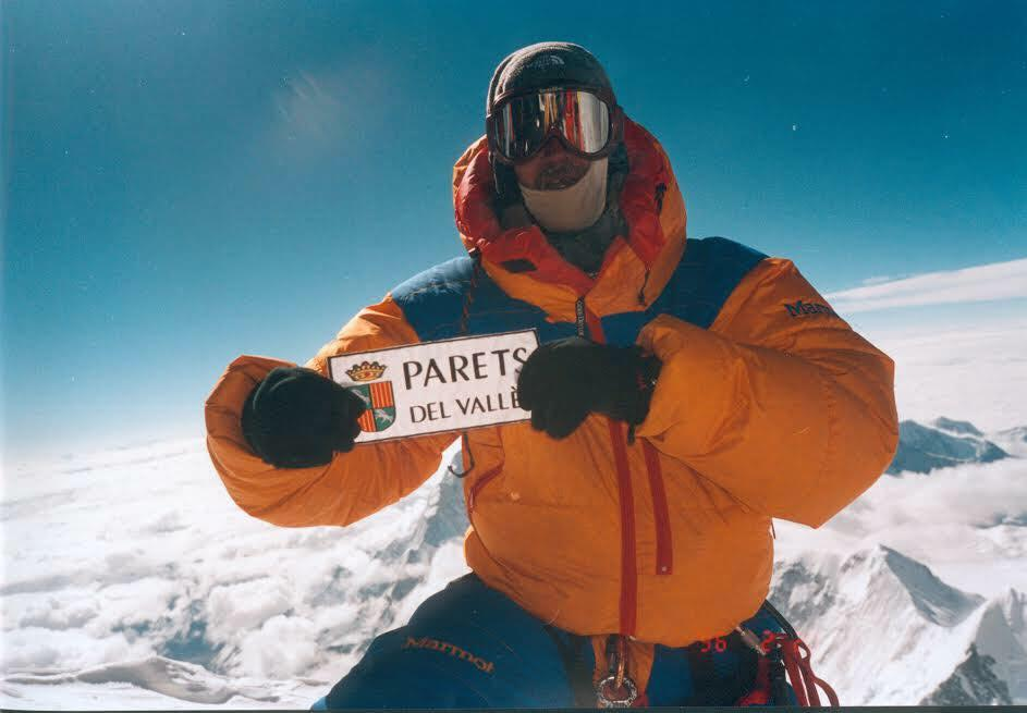 Sergi Mingote on the summit of Everest