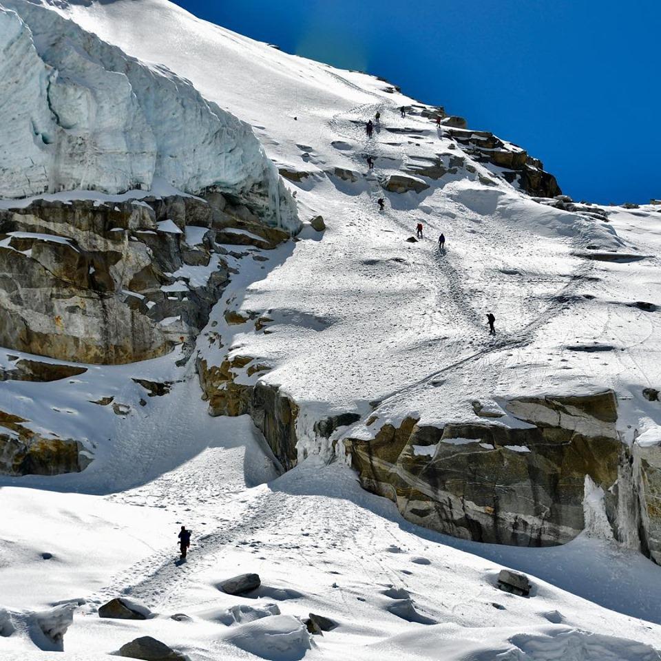 Kangchenjunga climbers. Image by Juan Pablo Sarjanovich.
