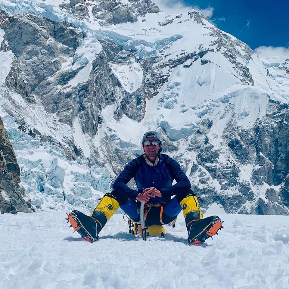 Juan pablo Sarjanovich in Kangchenjunga Base Camp