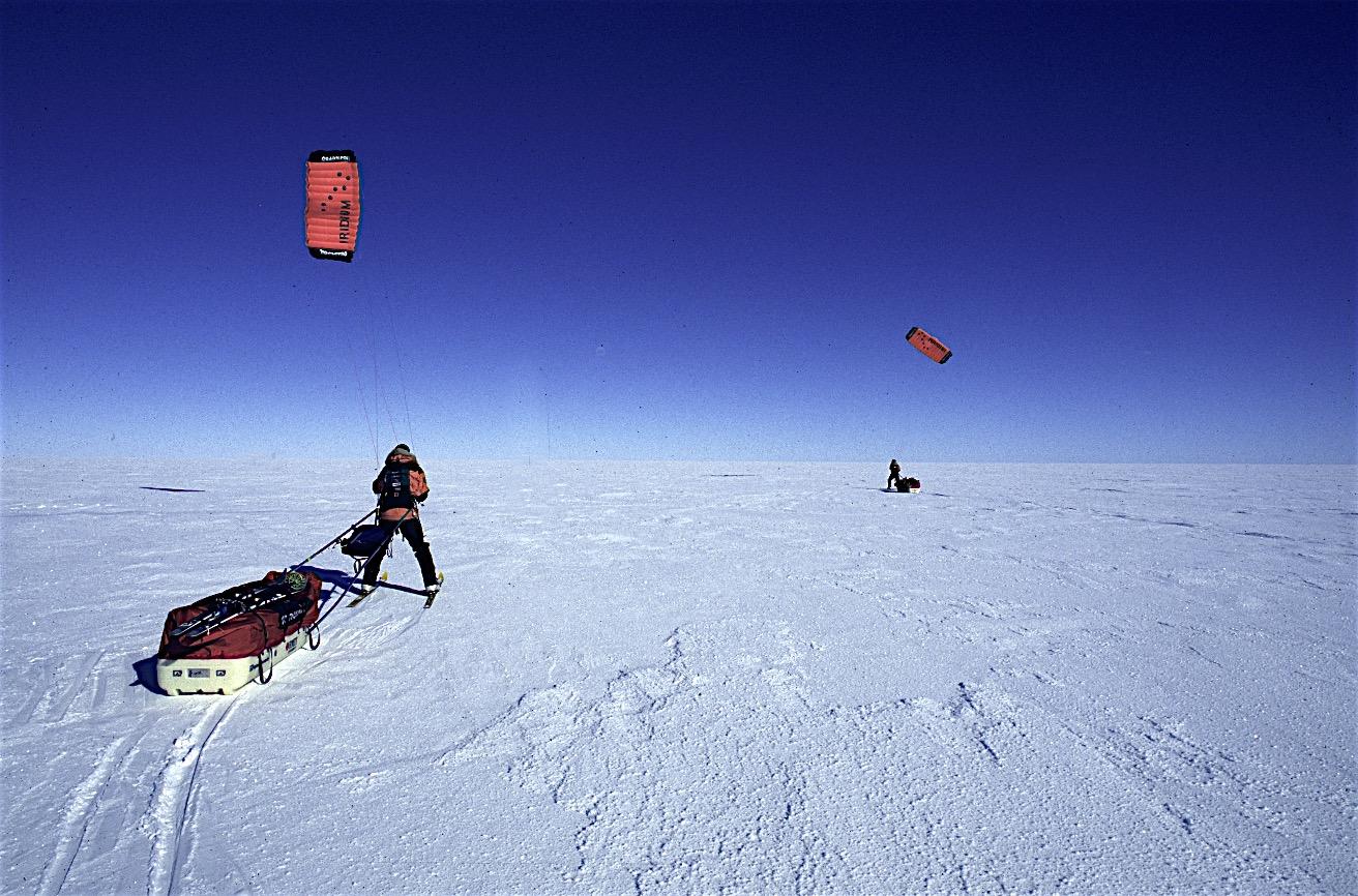 Kiting on the Ross Ice Shelf