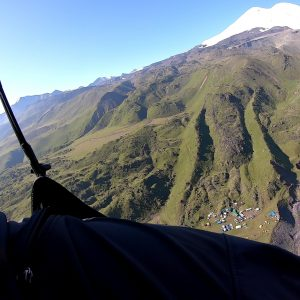 Paragliding from the two summits of ELBRUS – Elbrus East 5621m & Elbrus West 5642m