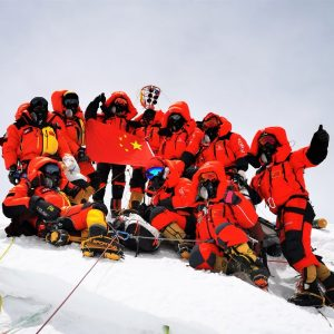 Chinese Surveyors Summit Everest