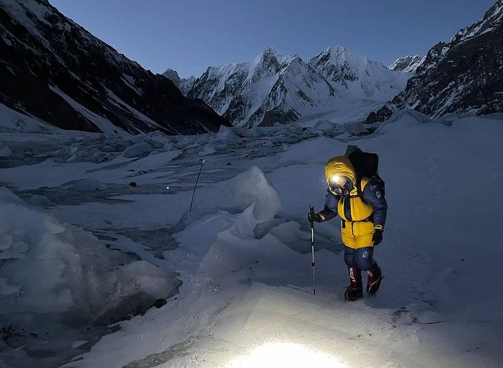 On the way to Advanced Base Camp