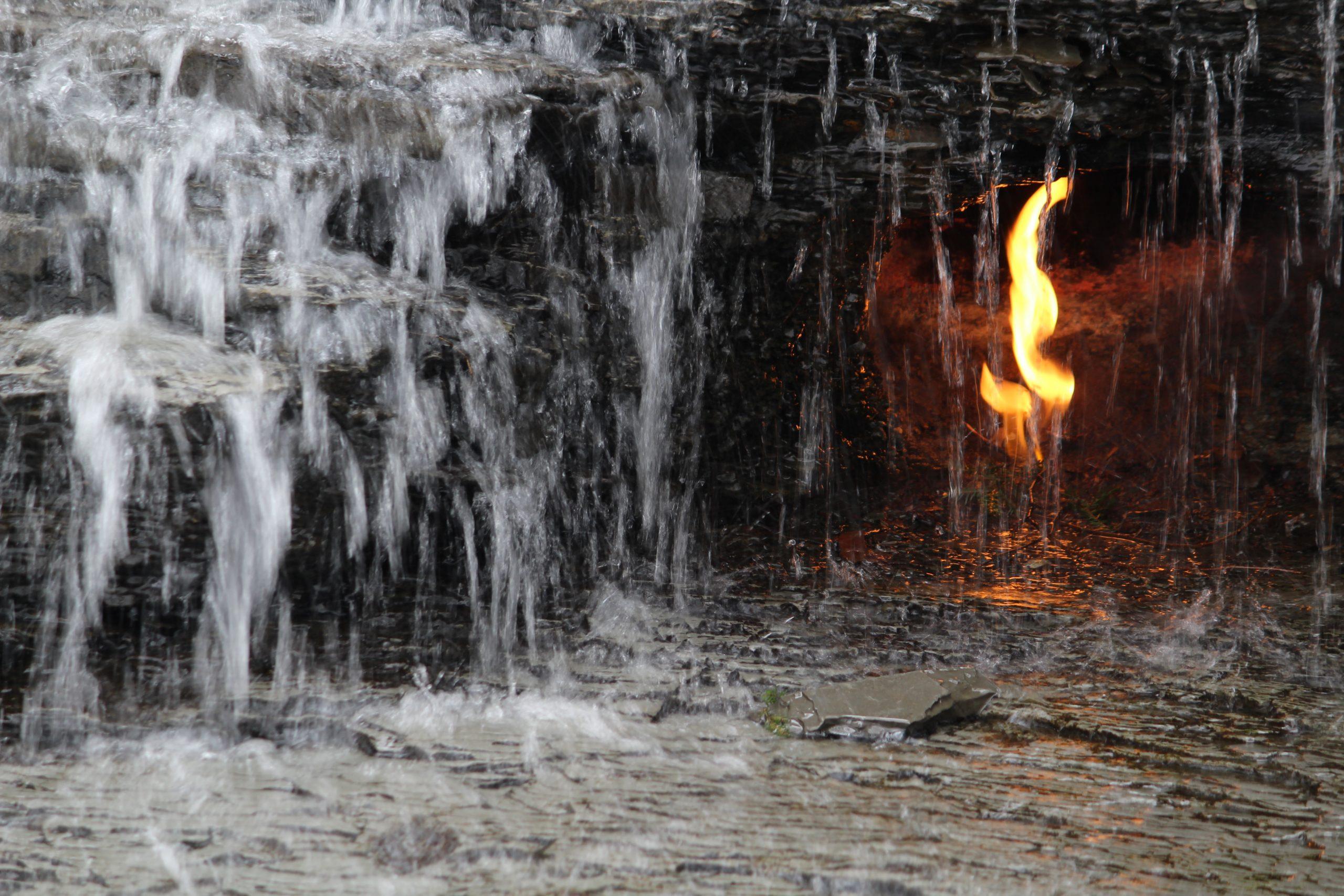 Eternal Flame Falls Fire Closeup