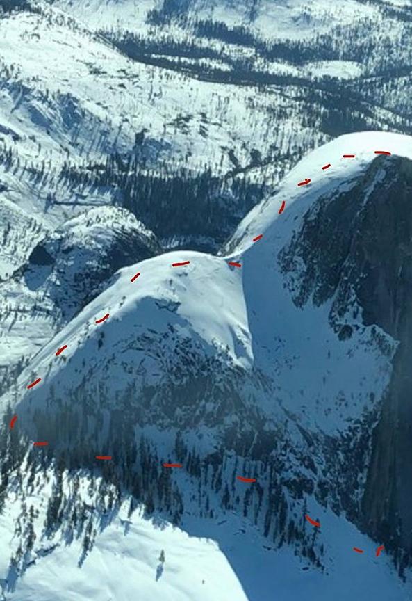Their partial ski route
