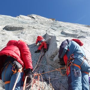 Alps: New Route Free Climbed Up the West Face of Petit Dru