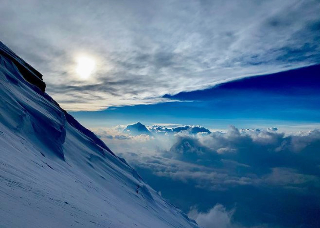 View of Dhaulagiri seen from Annapurna