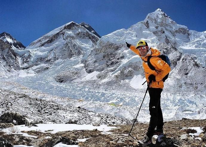 David Goettler near Everest Base Camp