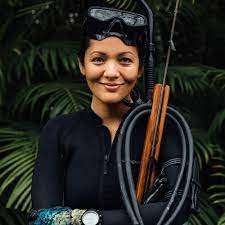 Portrait of a Hawaiian women, adopted into the Korean divers' sisterhood