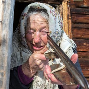 Lake Baikal's Skating Grandmother