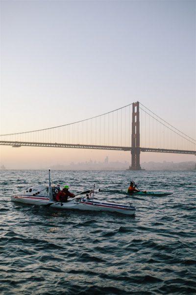kayaker near the Golden Gate Bridge