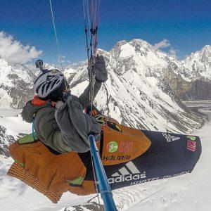 Antoine Girard Sets Karakorum Paragliding Altitude Record