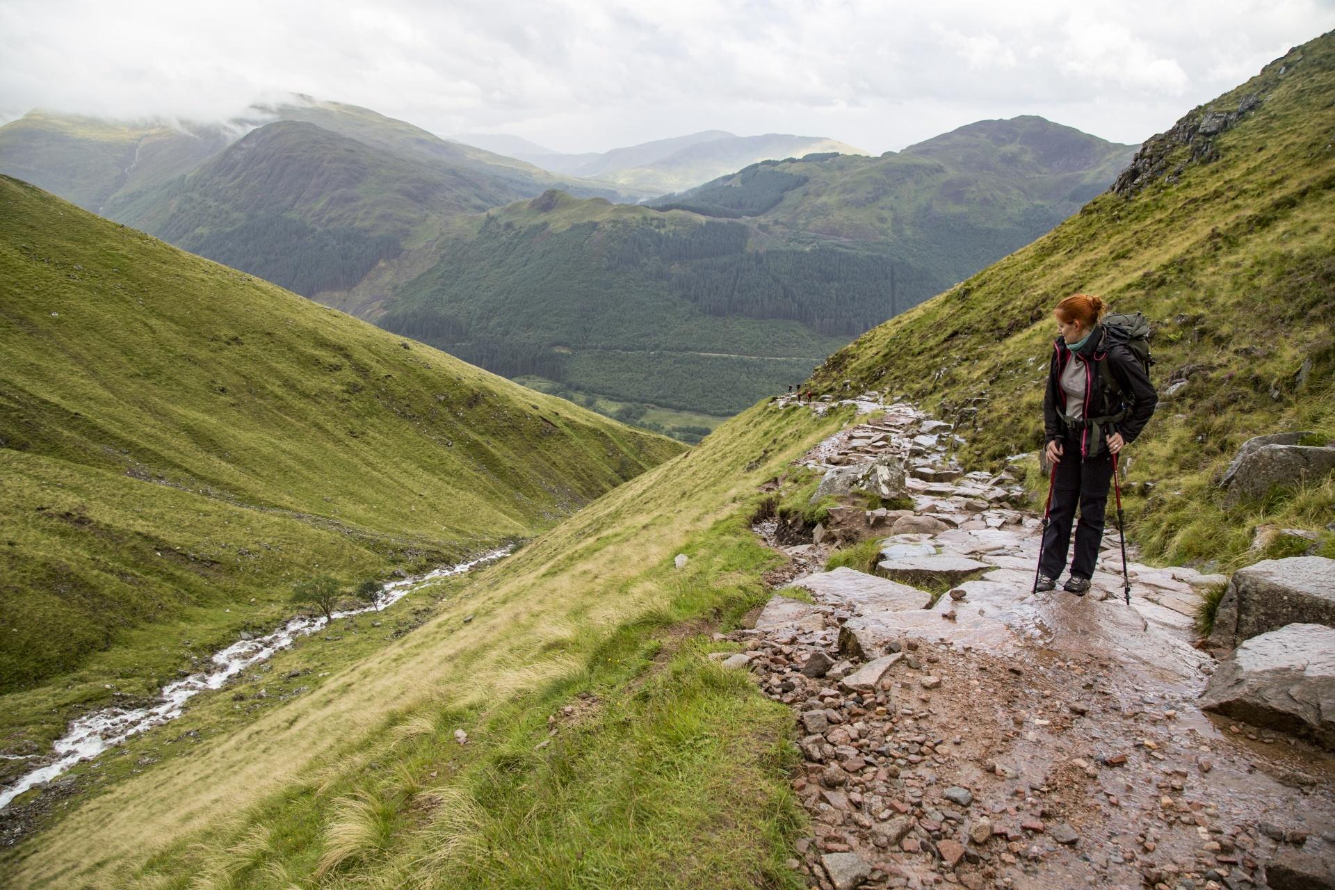 Hiker on Ben Nevis