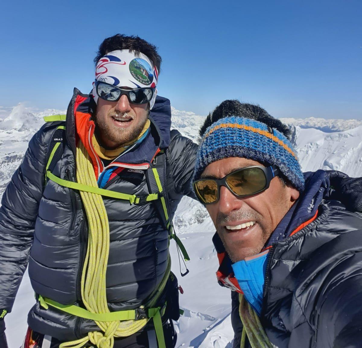 Castagna e Berenzoni in cima al Monte Rosa