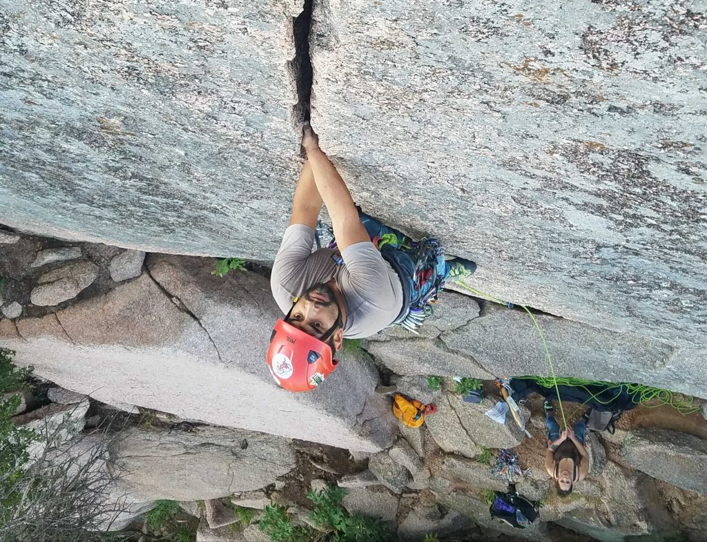 Climbing grades explained: a 5.6 trad route in Texas