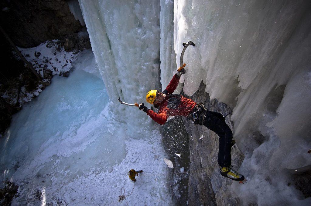 Ice climbing in Canada