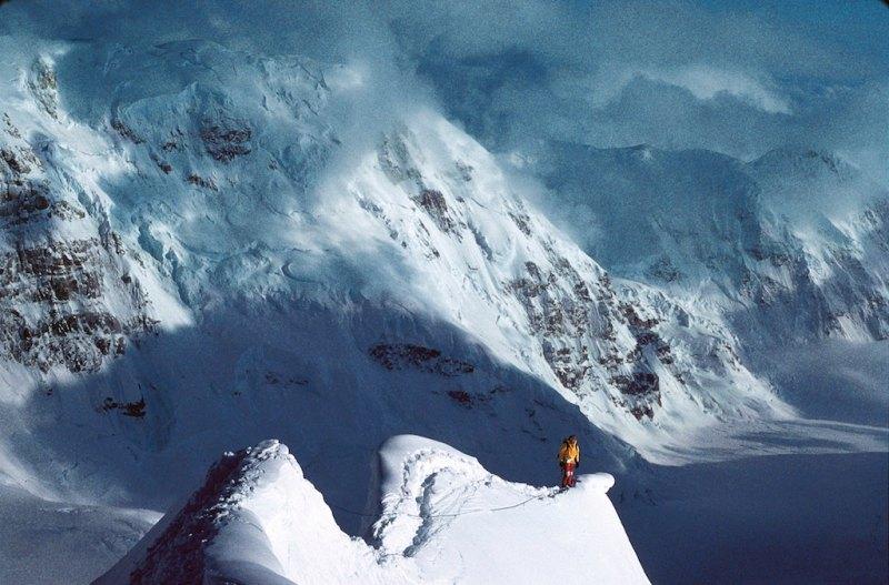 Blanchard Traversing the Tent Arete on the Cassin Ridge of Mount McKinley, AK 1982 Photo Doyle creative commons