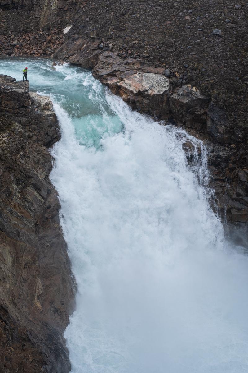 baffin island waterfall whitewater