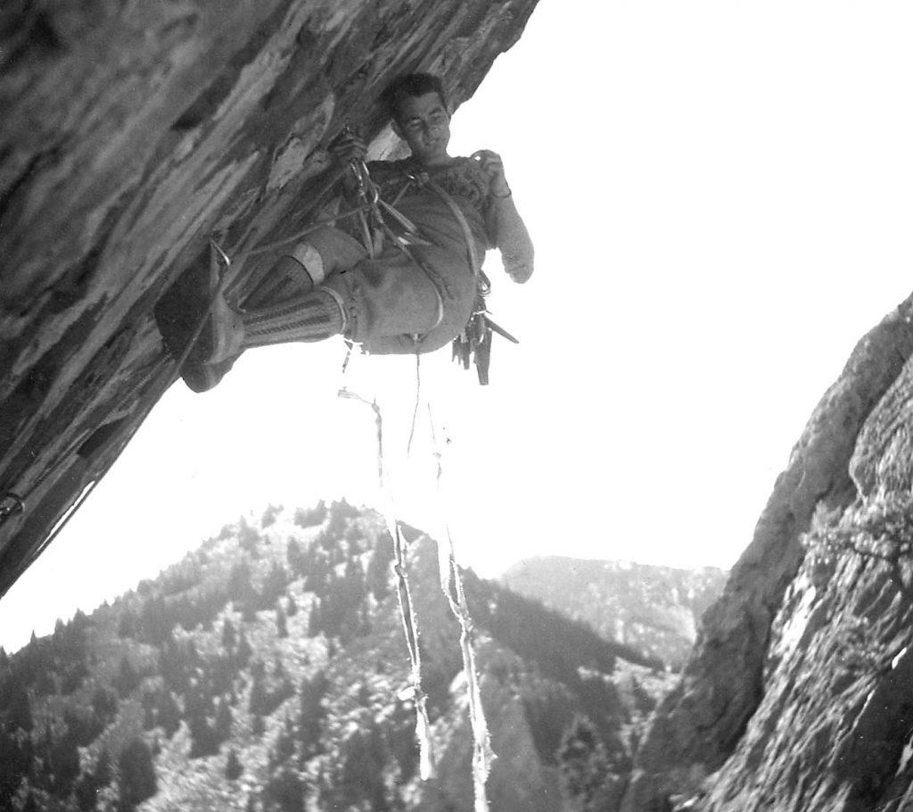Layton Kor aid climbing