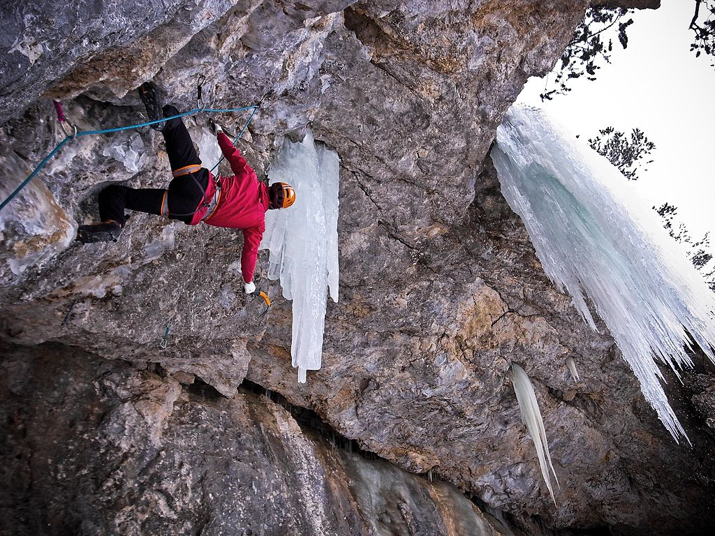 mixed ice climbing