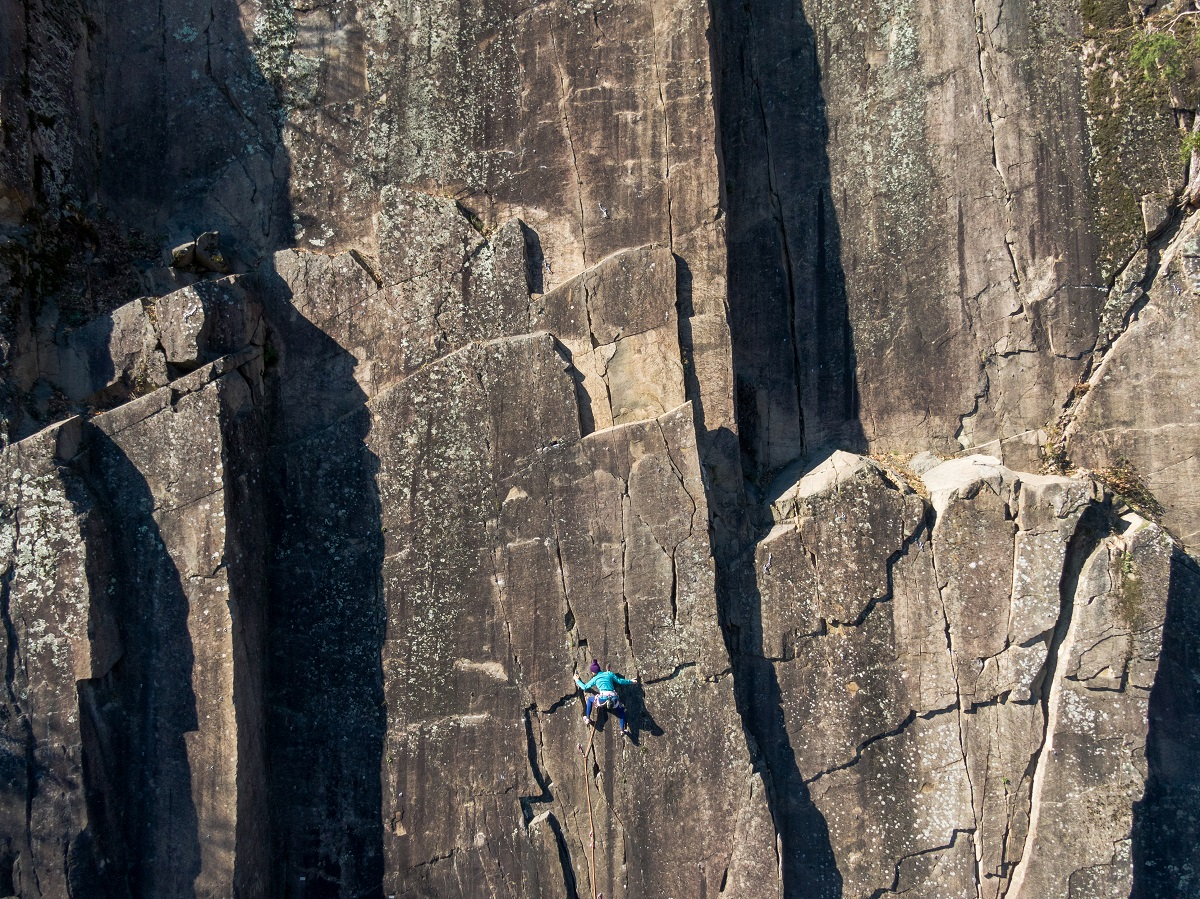 A multi-pitch big wall route. Photo: Shutterstock