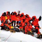 Chinese Surveyors Summit Everest