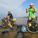 Biking the Amazon - Mighty river shows its strength - will they prevail?