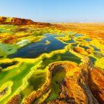 The salt-crusted landscape of Dallol