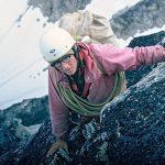 1967 photo of David Roberts on Harvard Mountaineering expedition in Alaska. c. Matt Hale